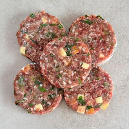 Hamburger di maiale rucola e provola